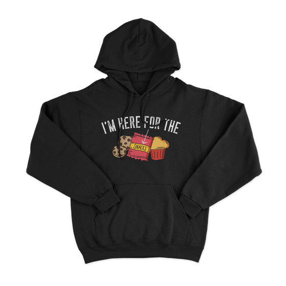 Here For The Snacks/Unisex Hooded Sweatshirt