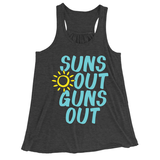 Suns Out Guns Out/Women's Flowy Racerback Tank
