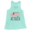 Add More Lipstick And Attack/Women's Flowy Racerback Tank