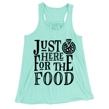 Just Here For The Food/Women's Flowy Racerback Tank