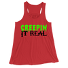Creepin It Real/Women's Flowy Racerback Tank