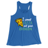 I Want Pizza Not Your Opinion/Women's Flowy Racerback Tank