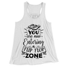 You Are Now Entering A Flip Flop Zone/Women's Flowy Racerback Tank