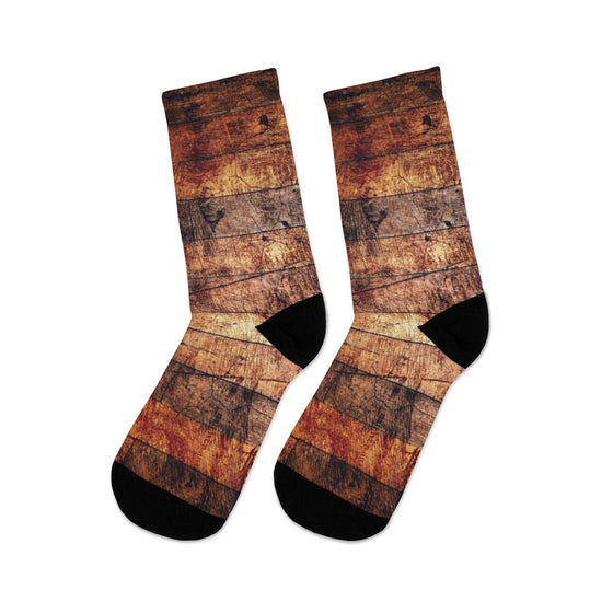 Wood Abstract Socks