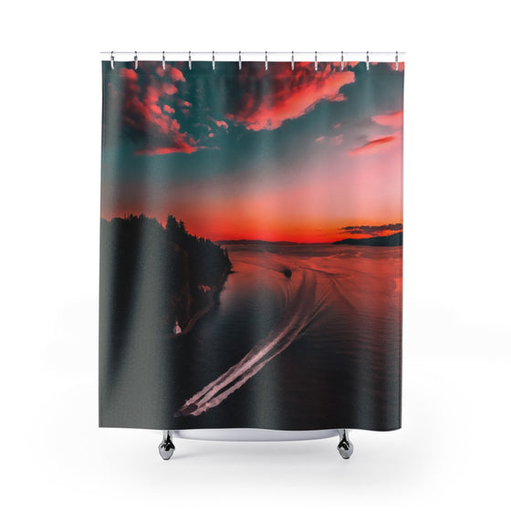 Night Shower Curtains