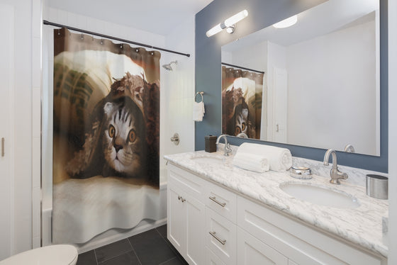 Kitten Shower Curtains