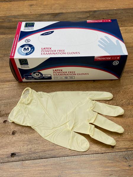 Latex Disposable Gloves 100. Only £8.99 a box