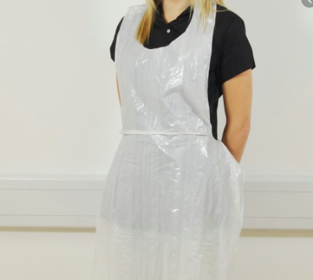 "Disposable Aprons. 200 on a roll  27"" * 46"" ONLY  £ 15.00"
