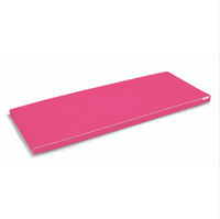 Bodipillo by Ladypillo. 100% antibacterial, washable, memory foam treatment table mattress toppers for clinic couches in pink.