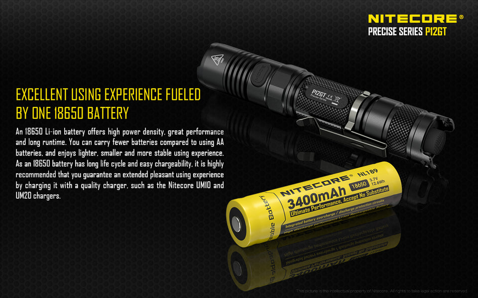 Nitecore P12GT LED Flashlight (1000 Lumens) - Thomas Tools