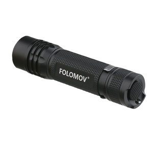 Folomov 18650S Rechargeable Flashlight (Black) (900 Lumens) - Thomas Tools