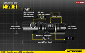 Nitecore MH20GT LED Flashlight (1000 lumens)