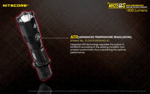 Nitecore MH25GTS Rechargeable Flashlight (1800 Lumens) - Thomas Tools