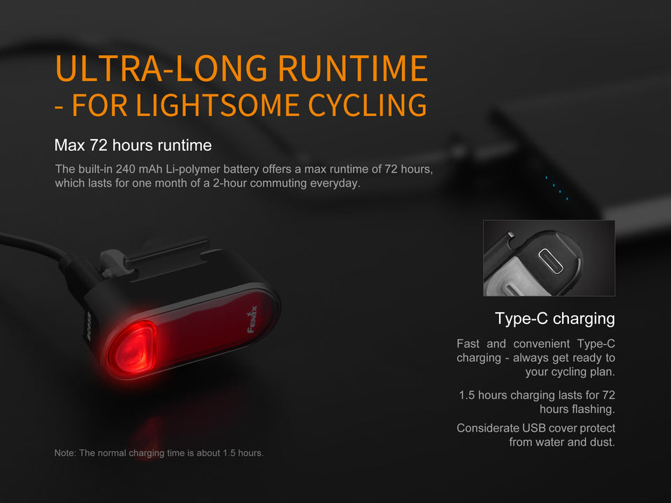 Fenix BC05R Rechargeable Bike Tail Light (10 Lumens) - Thomas Tools