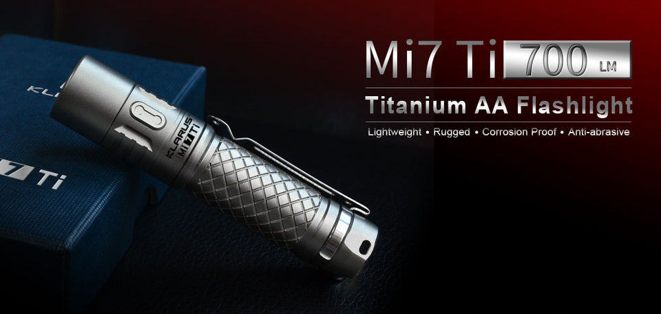 Klarus Mi7 Titanium Flashlight (700 Lumens) - Thomas Tools