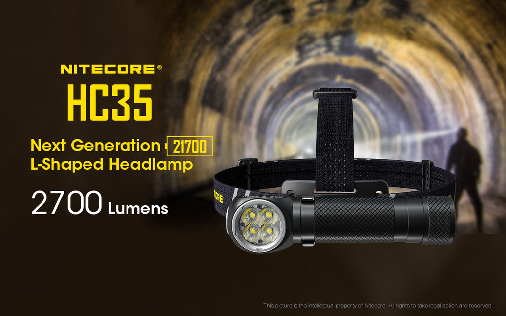 NITECORE HC35 CREE XP-G3 S3 LED 2700L Rechargeable Headlamp, hiking, camping, outdoor, adventure, activity, portable, convenient, lightweight, night vision, head lamp, head light