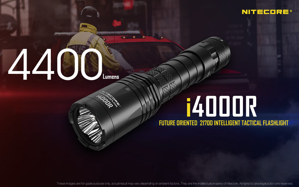 Nitecore i4000R LED Rechargeable Flashlight (4400 Lumens)