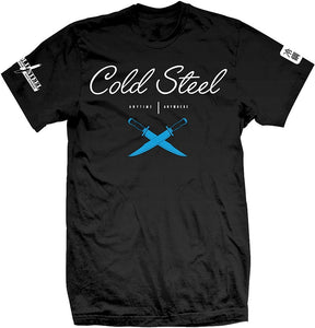 Cold Steel T-Shirt Cursive Black (L, XL) - Thomas Tools