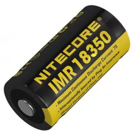 NITECORE IMR 18350 3.7V 700mAh Li-ion Rechargeable Battery, hiking, camping, outdoor, adventure, cycling, fishing, battery, lightweight, portable, convenient, easy carry