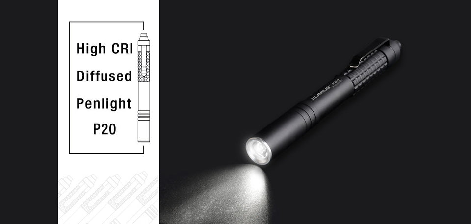 Klarus P20 Penlight Flashlight (230 Lumens)