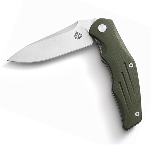 QSP Pangolin Stonewashed (Army Green Handle)