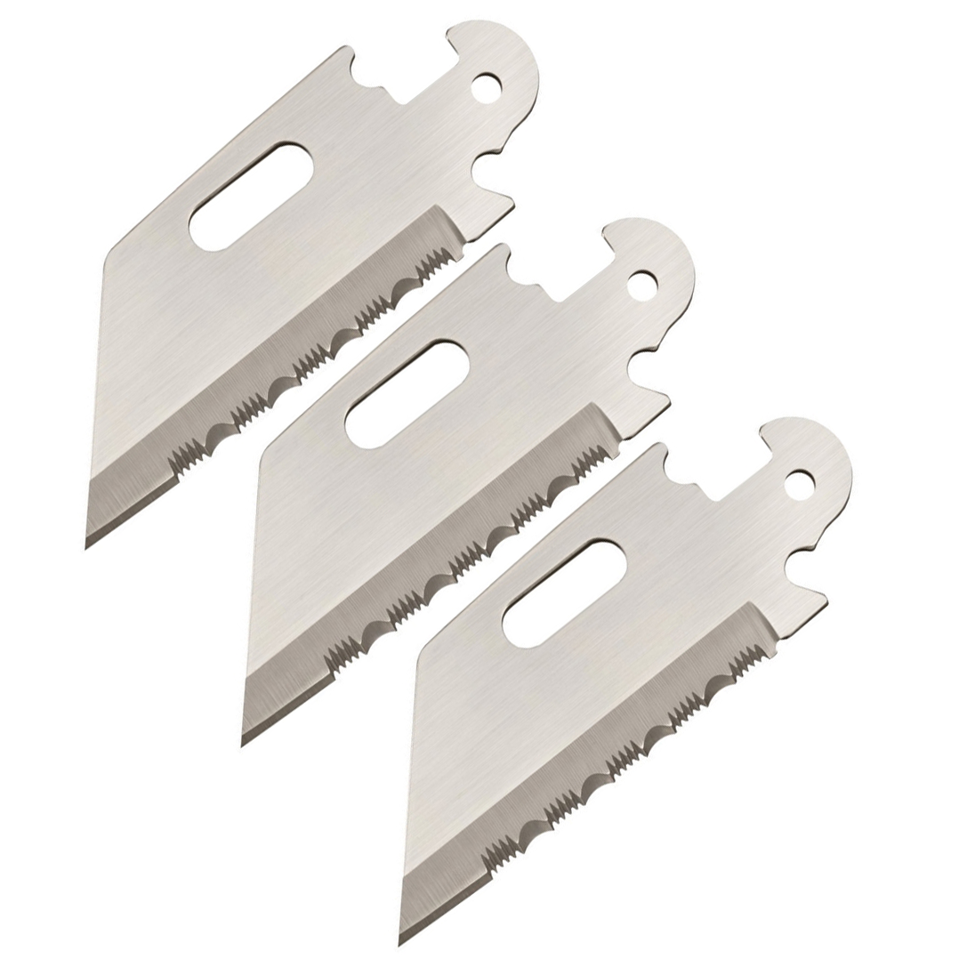 Cold Steel Click-N-Cut Serrated Edge Utility Replacement Blade (3 Pack)