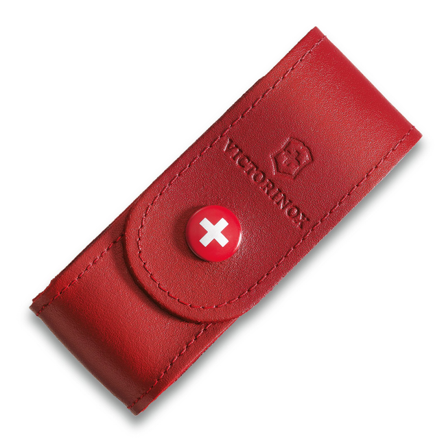 Victorinox Leather Belt Pouch 4.0520.1 (Red) (2-4 Layers)