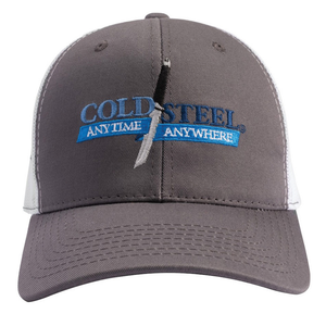 Cold Steel Grey Trucker Hat Cap