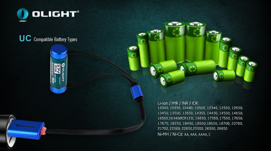 Olight Battery Charger UC Magnetic - Thomas Tools