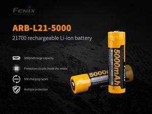 Fenix Battery 21700 ARB-L21-5000 Rechargeable - Thomas Tools