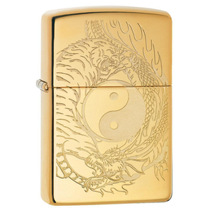 Zippo Tiger 49024 Tiger and Dragon Design Lighter - Thomas Tools
