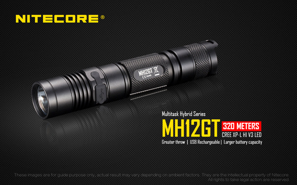 Nitecore MH12GT Rechargeable LED Flashlight (1000 Lumens)