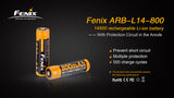 Fenix Battery 14500 ARB-L14-800 Rechargeable - Thomas Tools