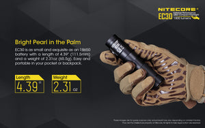 Nitecore EC30 LED Flashlight (1800 Lumens)