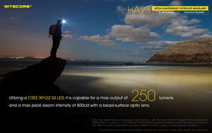Nitecore HA23 Headlamp (250 Lumens) - Thomas Tools