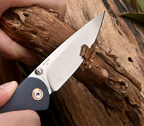 CJRB Feldspar Small (G10 Gray) Folding Knife