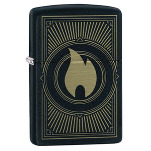 Zippo Matte 49217 Deco Flame Design Lighter
