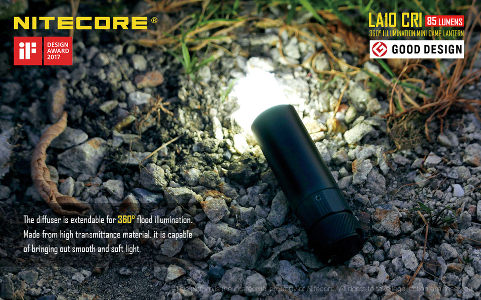 Nitecore LA10CRI LED Lantern Flashlight (85 Lumens)