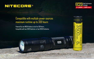 Nitecore EC23 LED Flashlight (1800 Lumens)
