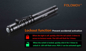 Folomov L1 Penlight (335 Lumens) - Thomas Tools