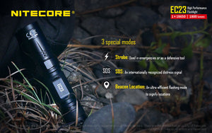 Nitecore EC23 LED Flashlight (1800 Lumens) - Thomas Tools