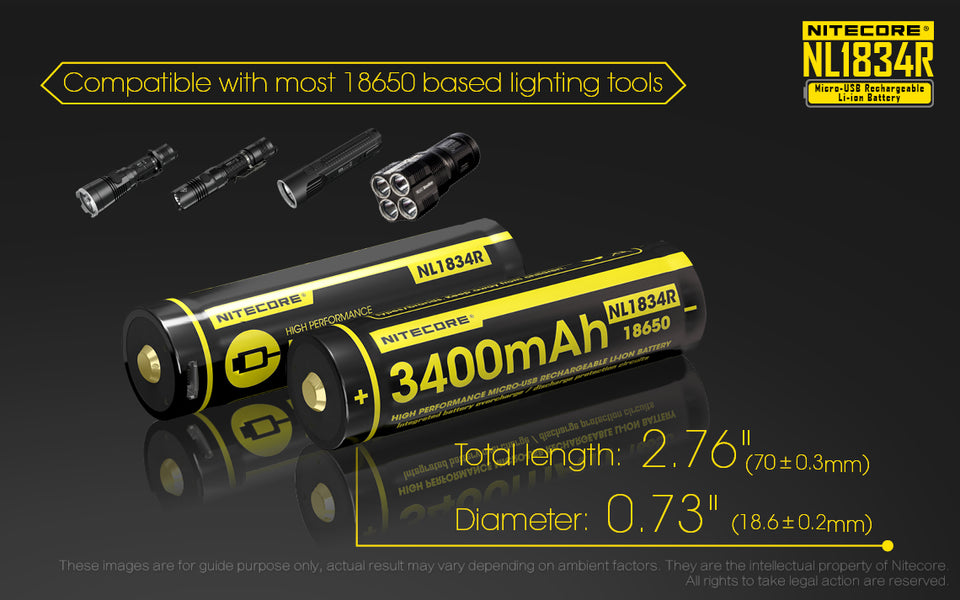 Nitecore Battery 18650 NL1834R
