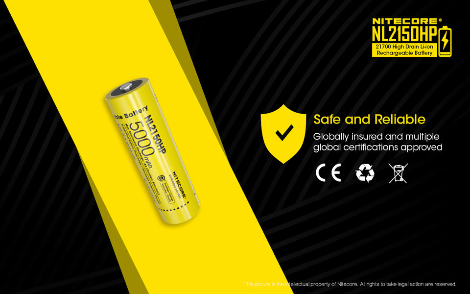 Nitecore Battery 21700 NL2150HP