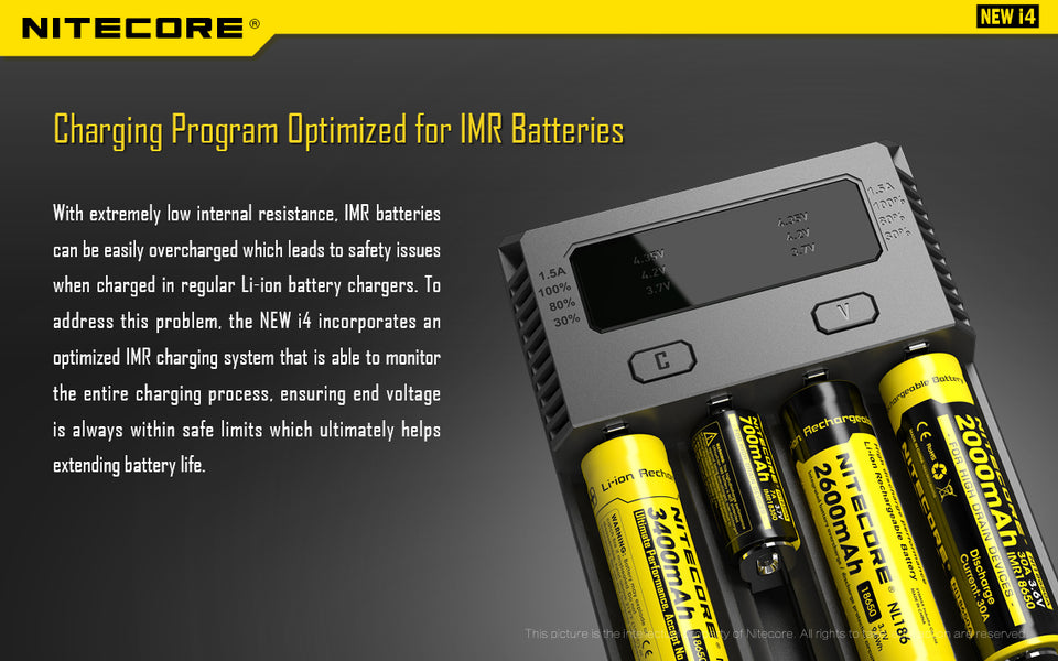 Nitecore New i4 Intellicharger Charger