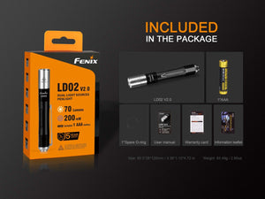Fenix LD02 V2.0 + UV Penlight (70 Lumens) - Thomas Tools