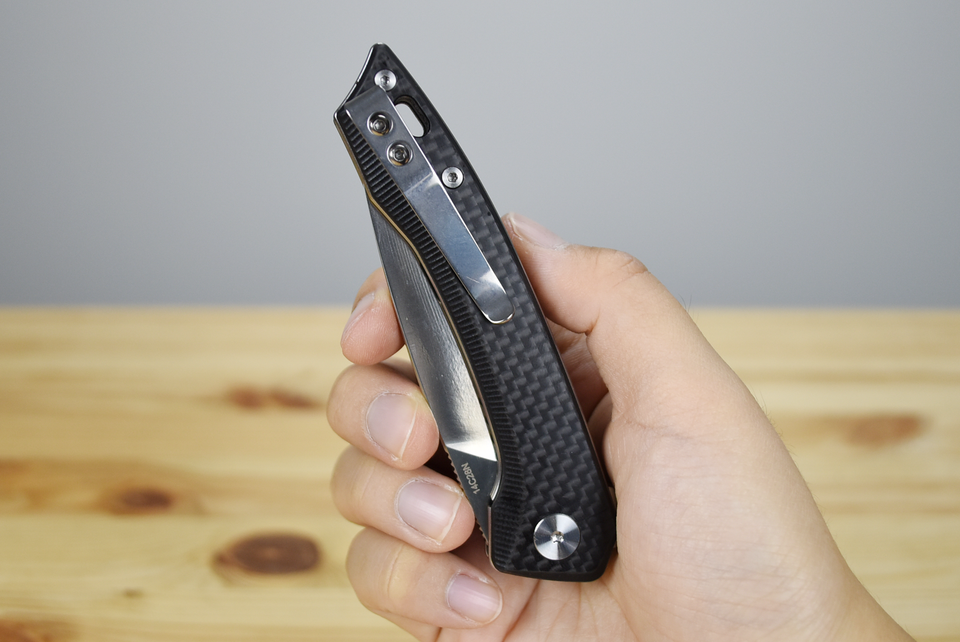 QSP Leopard EDC Folding Knife (Carbon Fibre)