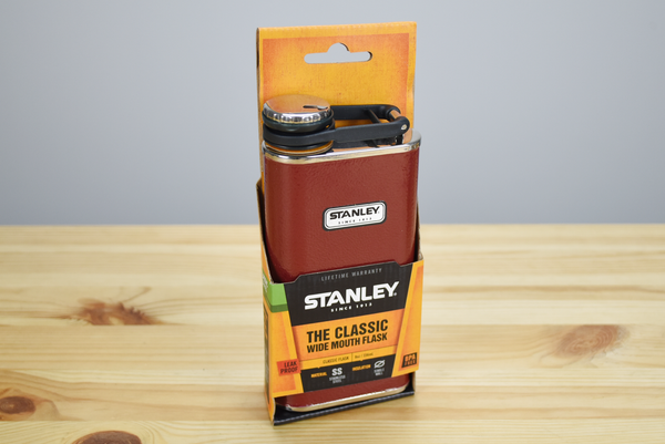 Stanley 8oz Classic Stainless Steel Wide Mouth Flask Crimson (Old Logo)