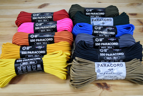 Atwood 550lbs Paracord 7 cores 100ft (Airforce Gold)