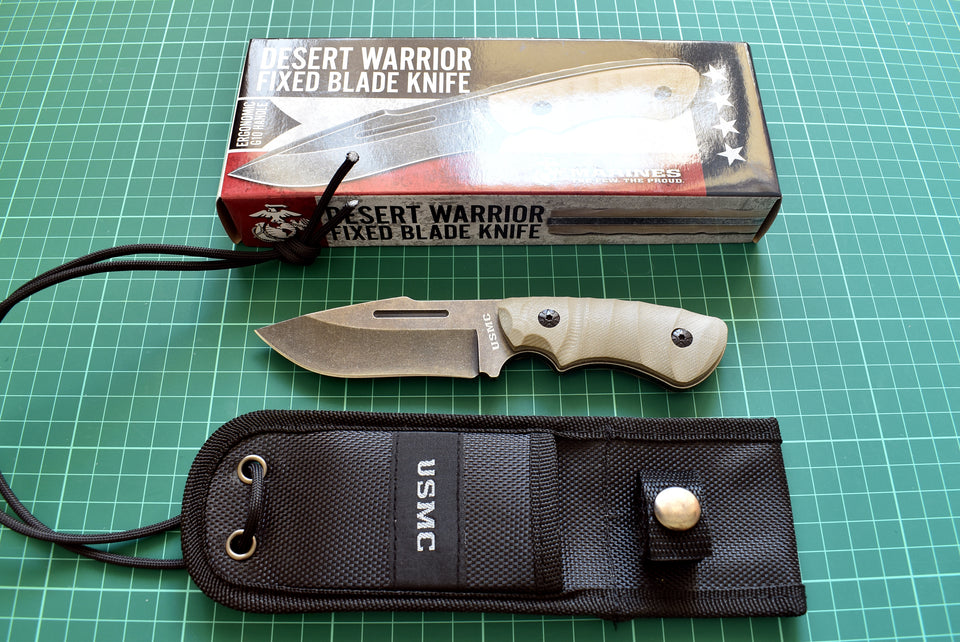 United Cutlery USMC Desert Warrior Fixed - Thomas Tools