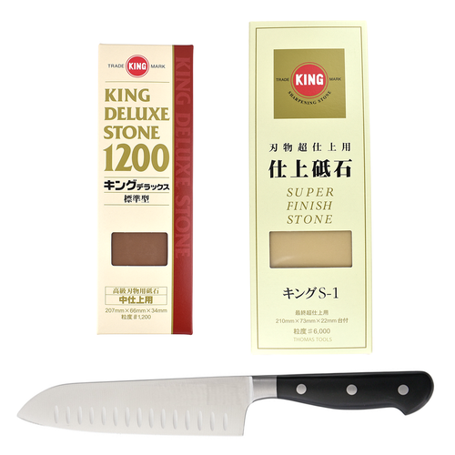 King Stone Set A #1200, 6000 (Free Training Knife)